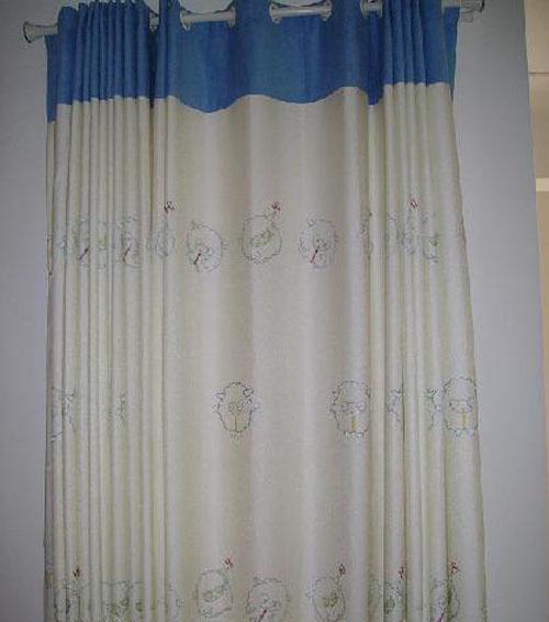 藤川布老虎小绵羊儿童窗帘(布B567-8-7013B/纱8布B567-8-7013B/纱848..