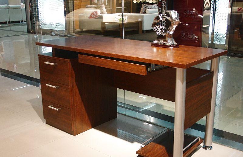 诺捷书房家具电脑桌6M005花梨木色6M005