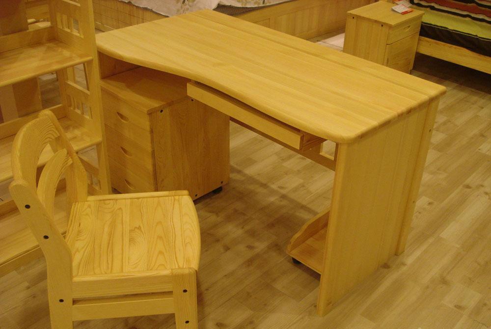树之语新艾薇尔松木原木色系列SCP-3电脑桌+底柜SCP-3
