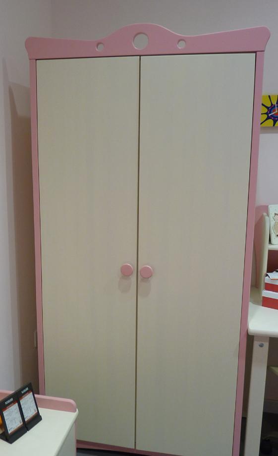 星星索S82304-2樟子松指接两门衣柜