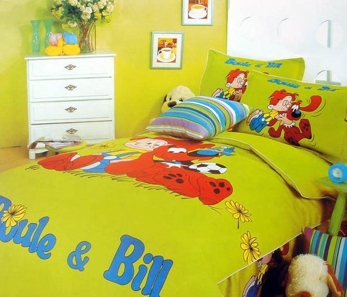 艺森家纺床上用品三件套全棉性印染卡通TD-031-TD-031-快乐家园