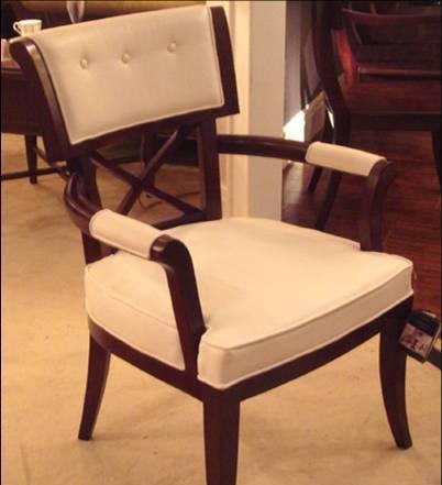 美凯斯客厅家具魅力摩登系列扶手椅M-C363W(白M-C363W(白色超纤皮..