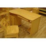 树之语新艾薇尔松木原木色系列SCP-3电脑桌+底柜