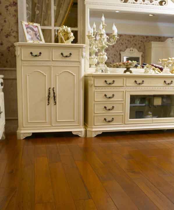 富林实木系列南美柚木华尔兹实木地板南美柚木