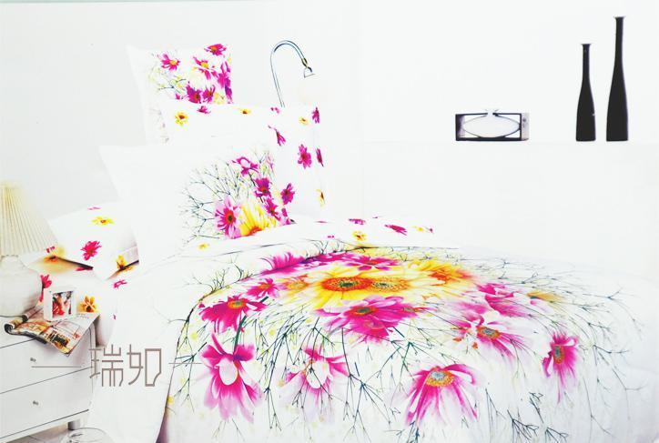 瑞如家纺环保活性印花精梳棉婚庆床上用品HX04四HX04