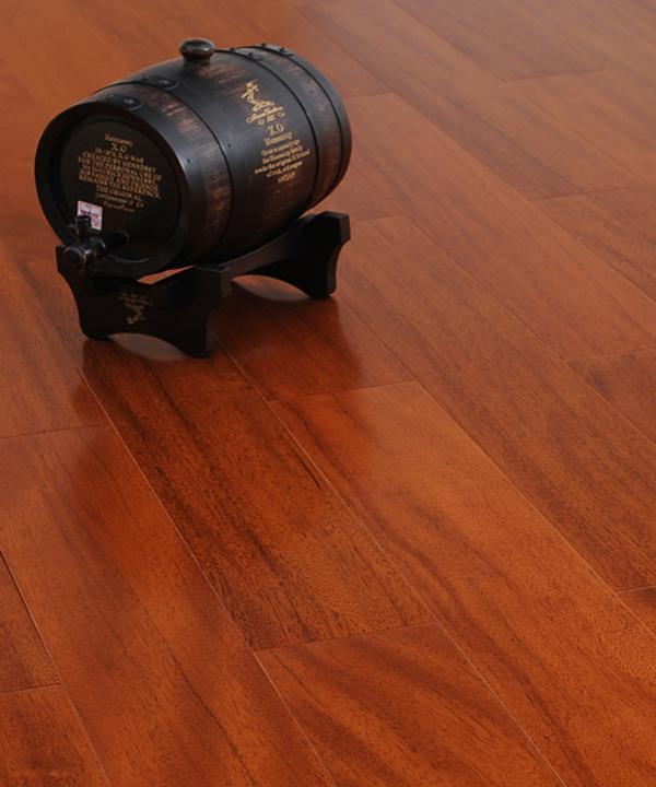 德尔SM-2非洲柚木色实木地板SM-2
