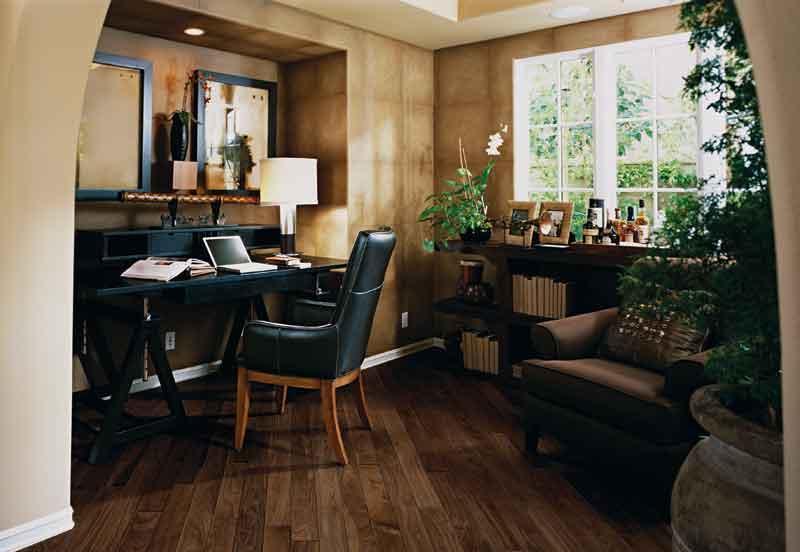 圣象新实木五层系列TS5105伯尔尼黑胡桃实木地板TS5105伯尔尼黑胡桃
