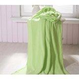 珑棉家纺超柔珊瑚绒毯浅绿色