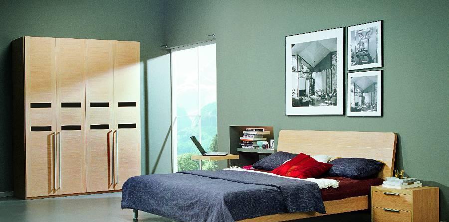 耐特利尔原橡木系列双人床-2
