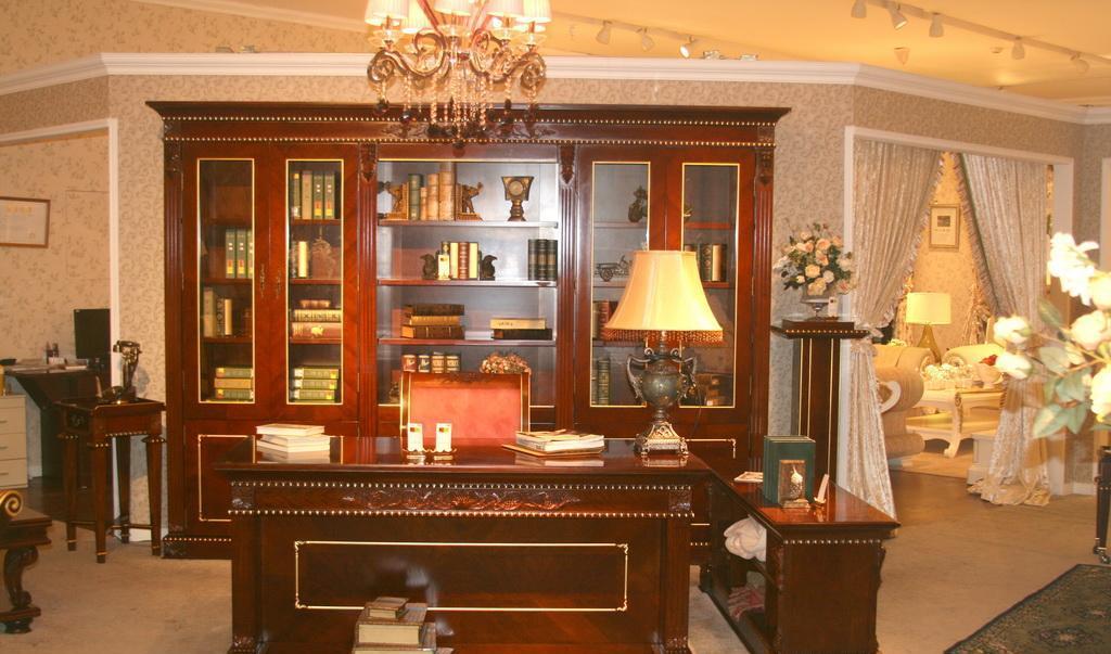 标致家具巴赫家具系列六门书柜KG01-012KG01-012