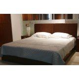 诺捷卧室家具床架8B007-B+8B101-B花梨木色