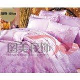 图美床盖七件套紫迷金醉TE8527(150CM)