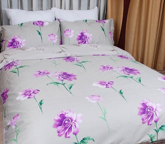 爱可圣彼得堡花季物语床上用品提花加印花全棉四