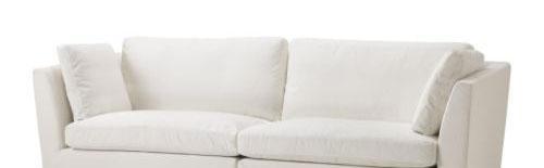 宜家斯德哥尔摩(白色)三人半沙发斯德哥尔摩