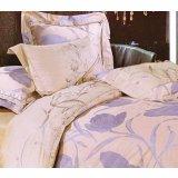 爱可爱登堡贵族蔷薇花冠床上用品色丁提花全棉四