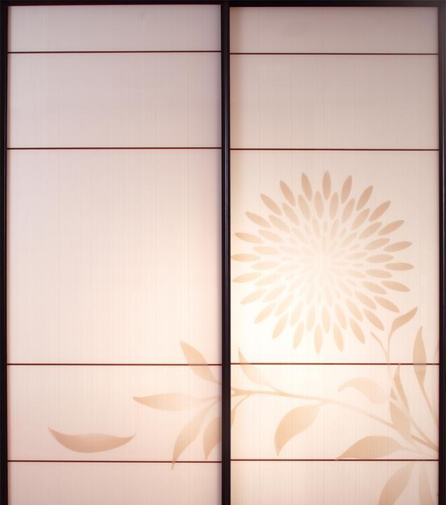 圣象•美诗雏菊轻舞YBL003衣柜移动门YBL003(玻璃)