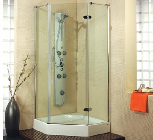 乐家卫浴夏威夷系列钻石形淋浴房(右开门)N052R0N052R0112
