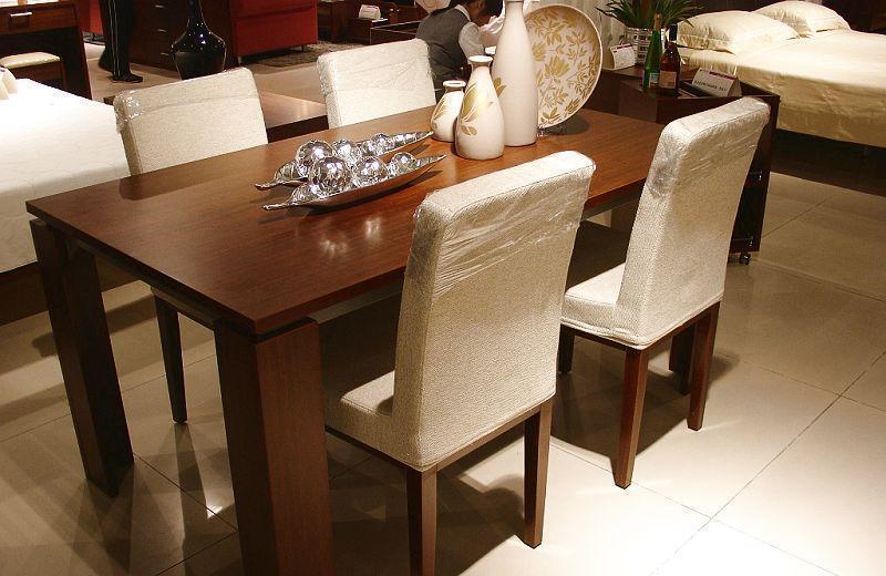 诺捷餐厅家具餐桌8N010花梨木色8N010