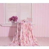 珑棉家纺印花珊瑚绒毯粉红