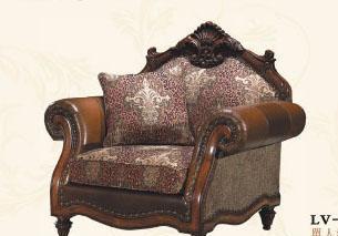 大风范家具路易十六客厅系列LV-691-1单人沙发LV-691-1单人沙发