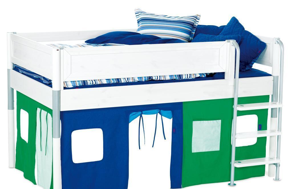 丹麦芙莱莎儿童家具中高床组合MIK2(白色)MIK2