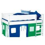 丹麦芙莱莎儿童家具中高床组合MIK2(白色)