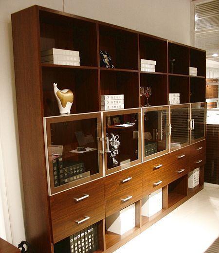 诺捷书房家具书柜8K026花梨木色8K026