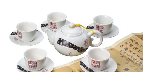 恒福茶具兰亭序一壶五杯组