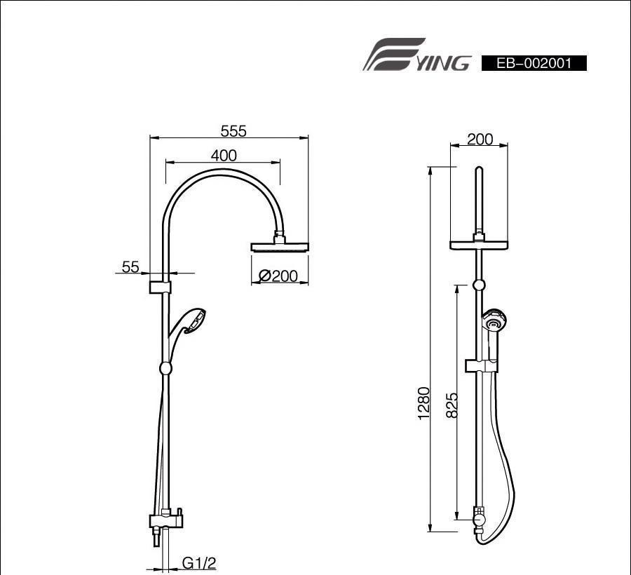 鹰卫浴分离式淋浴柱EB-002001EB-002001