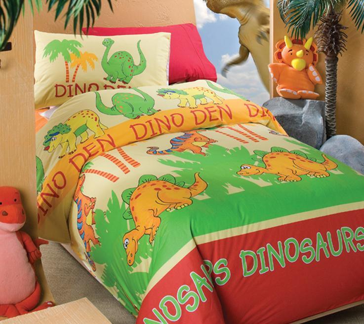 澳西奴床品纯棉高密印花三件套儿童系列恐龙园S/恐龙园S/B