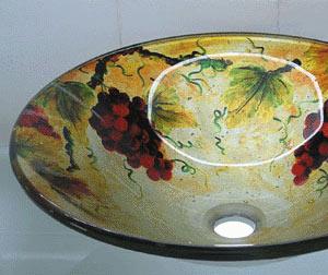 古亚单层玻璃盆D762