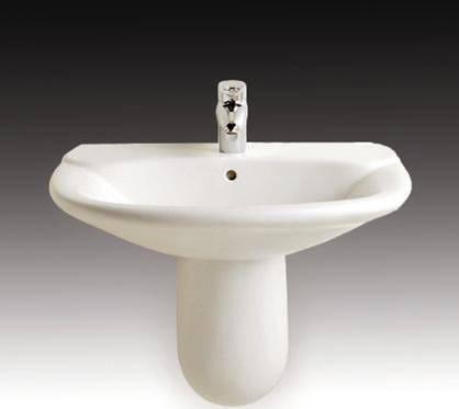乐家卫浴吉拉达系列半柱洗脸盆3-27462..03-27462..0