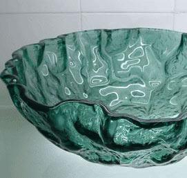 古亚立体玻璃盆D982