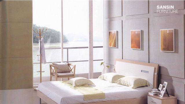 森盛家具卧室套装白榉系列08(床屏)A2029