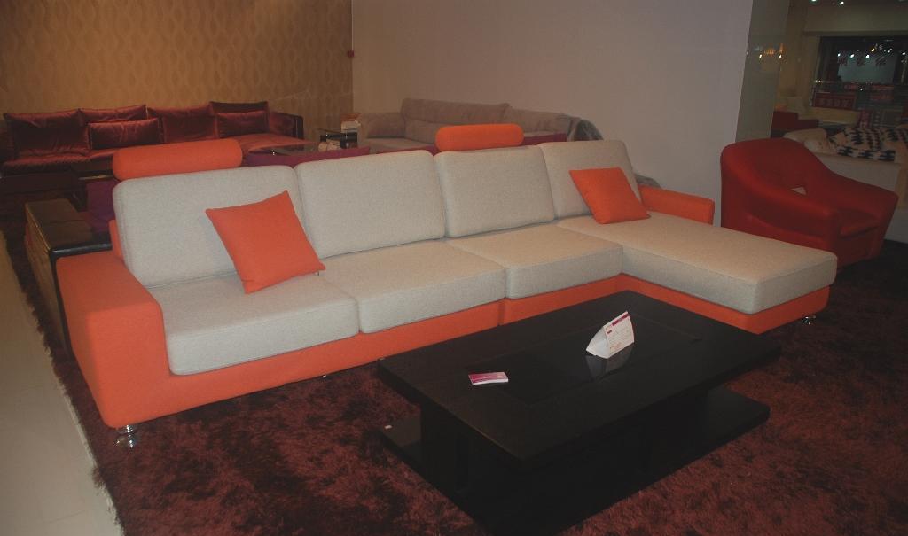 集美JF538沙发单背+3+贵妃塌JF538