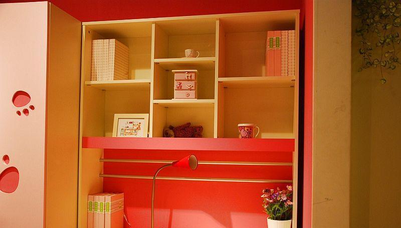 我爱我家儿童家具书架FU12(粉红色+白色+红色)FA36-12