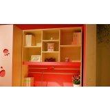 我爱我家儿童家具书架FU12(粉红色+白色+红色)