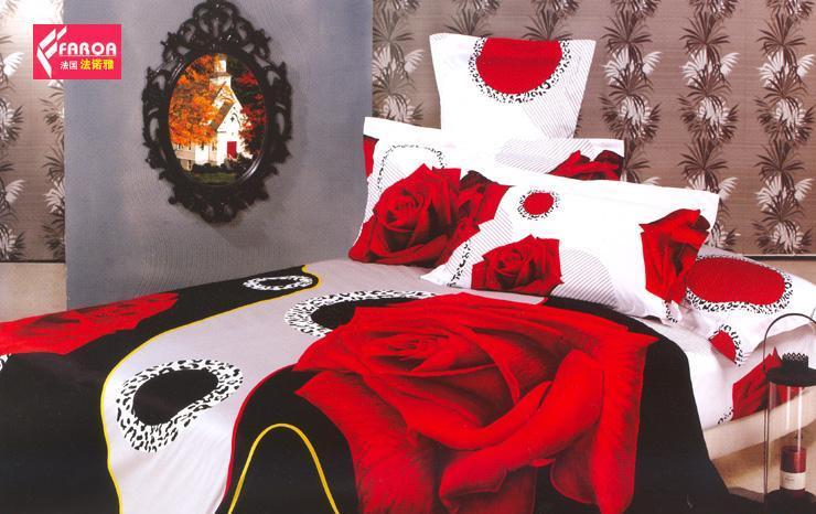 法诺雅床上用品四件套高密斜纹欧韩式活性印花CYCY007