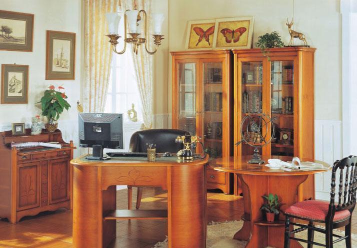 大风范家具洛可可书房系列RC-573圆书桌RC-573圆书桌