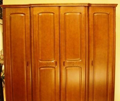 谷氏实木家具-卧室家具-四门衣柜G-8G-8
