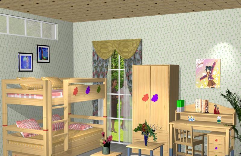 爱心城堡儿童家具双层床J022-BD1J022-BD1
