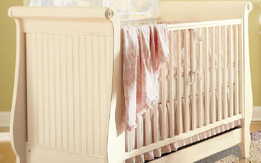 奥汀堡艺术家具克洛伊系列A0811实木家具婴儿床A0811