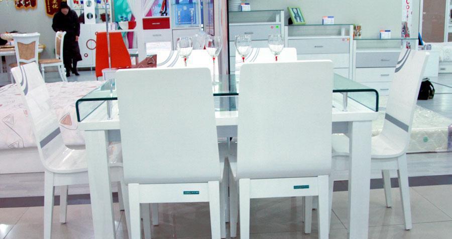 全友家居餐椅白银时代系列