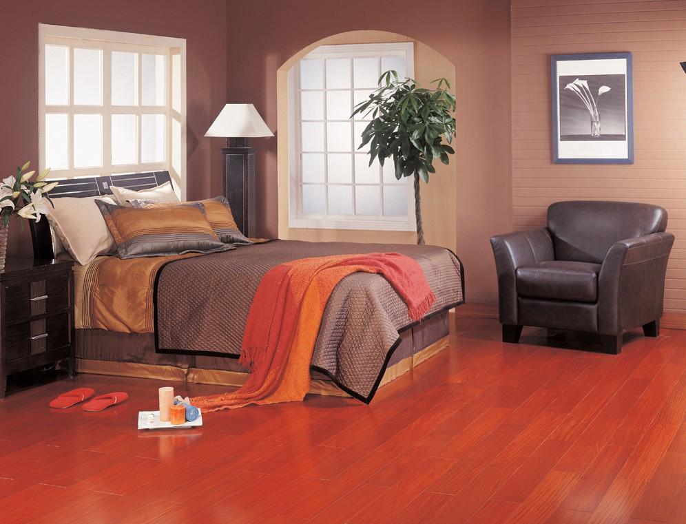 北美枫情和居二代系列红檀香多层实木复合地板红檀香