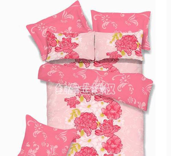 红富士高级被套床单四件套-情满花园情满花园