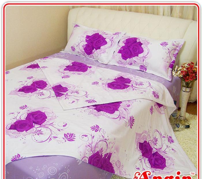 安寝家纺花采生活高级斜纹床上用品四件套