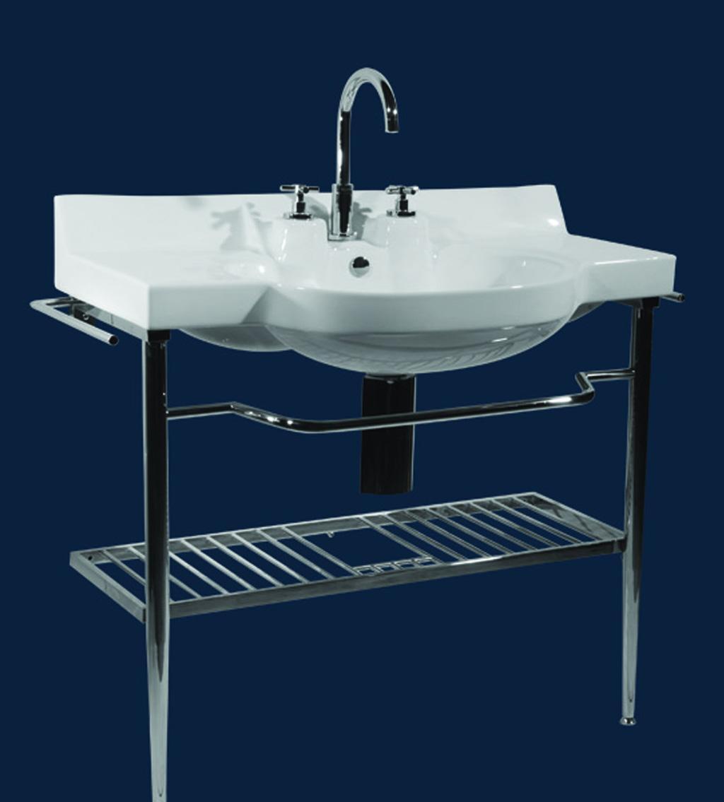 马丁卫浴MT-858不锈钢支架盆(瓷质卫生陶瓷)MT-858