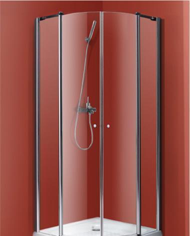 乐家卫浴波尔图系列圆弧形淋浴房(亮铬色)N101N10100112