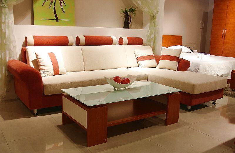 诺捷客厅家具沙发(2850*1800*940mm红樱桃)