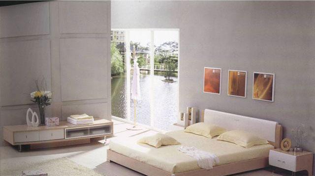 森盛家具卧室套装白榉系列01(床)A2088